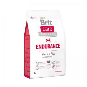 Сухой корм  Care Endurance для взрослых собак при высокой активности, утка/рис, 3кг Brit