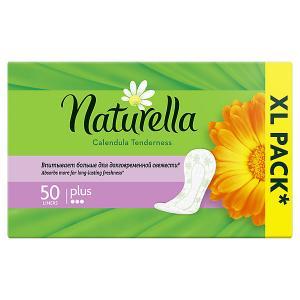 Женские ароматизированные ежедневные прокладки NATURELLA Calendula Tenderness Plus (с ароматом календулы), 50 шт.. Цвет: weiß/beige