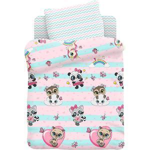 Комплект детского постельного белья  Малыши девочки Juno. Цвет: разноцветный