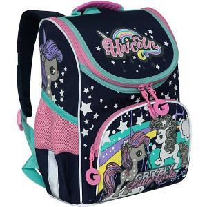 Рюкзак с мешком для обуви Grizzly. Цвет: синий
