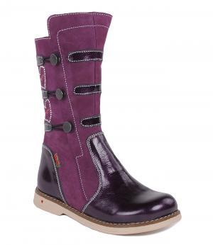 Сапоги утепленные для девочки (фиолетовые) Orsetto. Цвет: фиолетовый