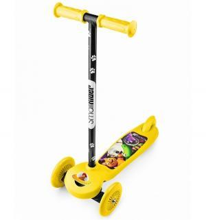 Самокат  Cosmic Zoo Scooter, цвет: желтый Small Rider
