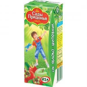 Сок  яблоко-шиповник, 200 мл Сады Придонья