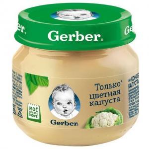 Пюре  цветная капуста с 4 месяцев, 80 г Gerber