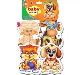 Пазлы мягкие  Домашние любимцы Vladi Toys