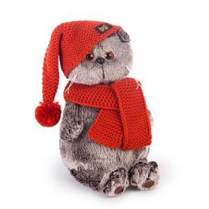 Мягкая игрушка  Басик и Ко в вязаной шапке шарфе 22 см Budi Basa