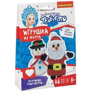 Набор для творчества  Ёлочные игрушки из фетра своими руками. Снеговичок. Дед Мороз Bondibon