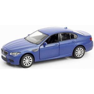 Металлическая машинка  BMW M5 1:32, голубой матовый RMZ City