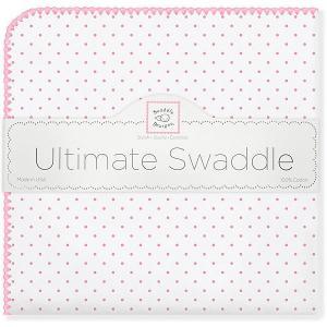 Фланелевая пеленка  Bt. Pink Polka Dot SwaddleDesigns. Цвет: розовый