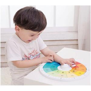Деревянный конструктор-часы  Распорядок дня Мишки, с вкладышами Classic World. Цвет: разноцветный