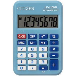 Калькулятор карманный  LC-110NR-BL Citizen. Цвет: синий