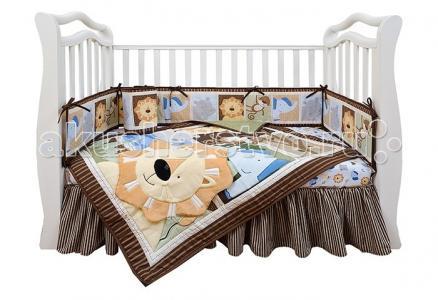 Комплект в кроватку  Shapito Leo Jungle (7 предметов) Giovanni