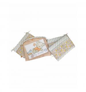 Бортик в кроватку  Zoo Bear, цвет: бежевый Золотой гусь