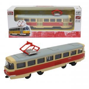 Машинка  Трамвай 1:54 Р49212, 1шт. Play Smart