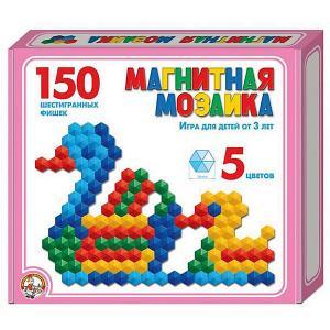Магнитная мозаика  шестигранная, 150 элементов Десятое королевство. Цвет: разноцветный