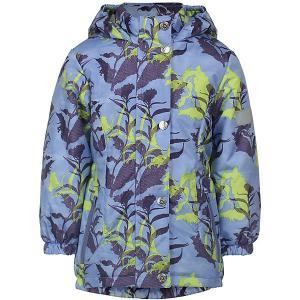 Демисезонная куртка JICCO BY OLDOS Цветы. Цвет: сиреневый