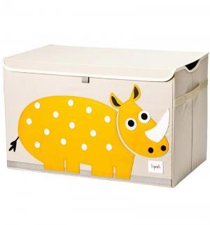 Сундук для хранения игрушек  Носорог, цвет: желтый 3 sprouts
