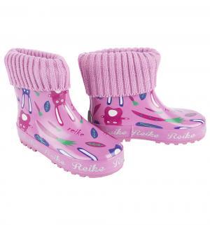 Резиновые сапоги , цвет: розовый Reike