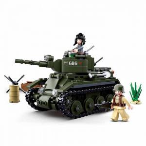 Конструктор  Военный танк (347 деталей) Sluban