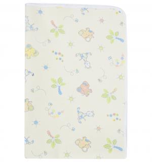 Пеленка трехслойная двусторонняя непромокаемая 50 х 70 см, цвет: желтый Multi-Diapers
