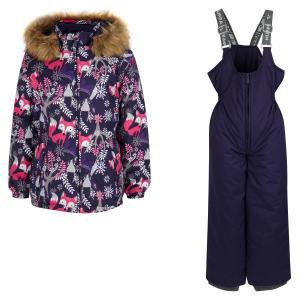 Комплект куртка/полукомбинезон  Wonder, цвет: фиолетовый Huppa