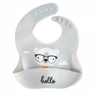 Нагрудник  силиконовый с кармашком Умный мишка Baby Nice (ОТК)