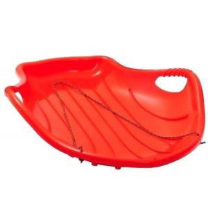 Санки  Снежный скат, цвет: красный Пластик