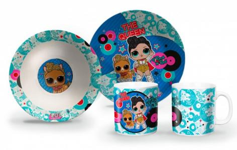 ND Play Набор посуды из фарфора L.O.L. Queen (3 предмета) Наборпосуды фарфораL.O.L.Queen(3предмета)