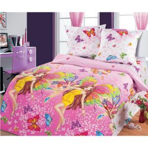 Комплект постельного белья  Красотки, цвет: розовый 4 предмета Артпостель