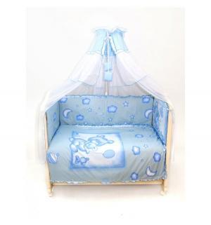 Комплект постельного белья  4 предмета, цвет: голубой Bombus