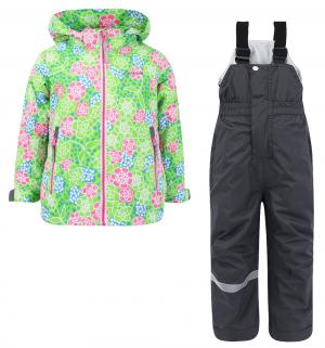Комплект куртка/полукомбинезон  Цветы, цвет: зеленый IcePeak