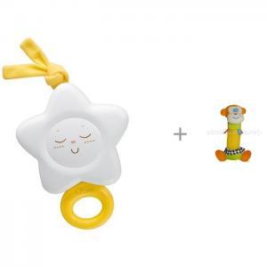 Подвесная игрушка  Звезда и мягкая Bertoni (Lorelli) Квакер Бадди Chicco