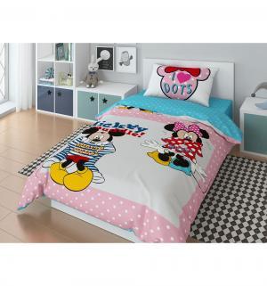 Комплект постельного белья  Mickey Muddle, цвет: розовый 3 предмета пододеяльник (200 х 148 см) Нордтекс