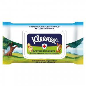 Влажные антибактериальные салфетки  «Дисней. Семейные», 40 штук Kleenex. Цвет: weiß/beige