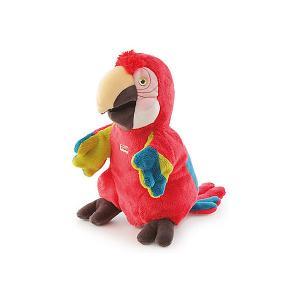 Игрушка на руку  Попугай, 25 см Trudi. Цвет: красный