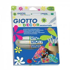 Фломастеры  Decor Materials для декорирования 12 цветов Giotto