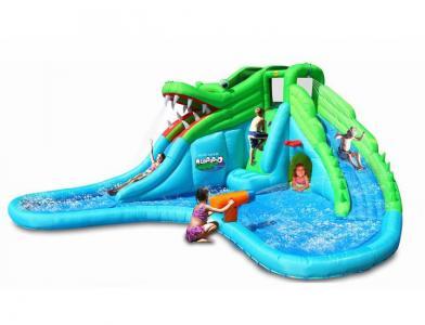 Надувная горка с водой Крокодил 9517 Happy Hop