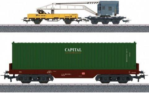Дополнительный набор вагонов для железной дороги Контейнерная погрузка Marklin