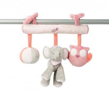 Подвесная игрушка  Adele & Valentine Слоник и Мышка на завязках Nattou