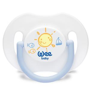 Дневная ортодонтическая соска-пустышка , с колпачком, рождения, Синяя WeeBaby