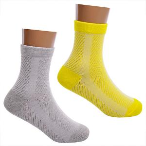 Носки , 2 пары Lansa. Цвет: желтый