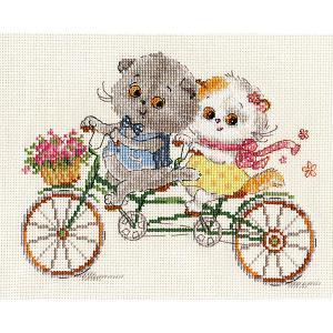 Набор для вышивания  Басик и Ли-Ли: Счастливый день 20х15 см Алиса