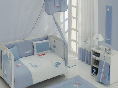 Постельное белье  Blue Marine Premium (3 предмета) Kidboo