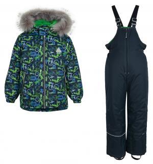Комплект куртка/полукомбинезон , цвет: зеленый/синий Saima