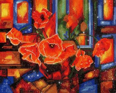 Алмазная картина Витражные маки Color Kit