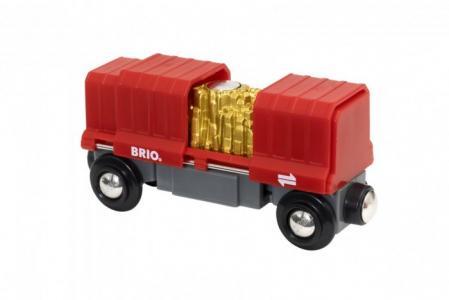 Грузовой вагончик с золотом Brio