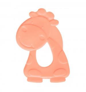 Прорезыватель  Зоопарк Жираф, розовый, 9 х 7.5 см Мир Детства