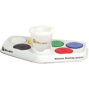 Набор для рисования : паллетка, стакан, гуашевая краска 6 шт Micador. Цвет: разноцветный
