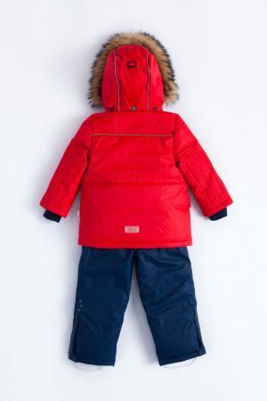 Комплект куртка/полукомбинезон  Pekka, цвет: красный/синий Nels