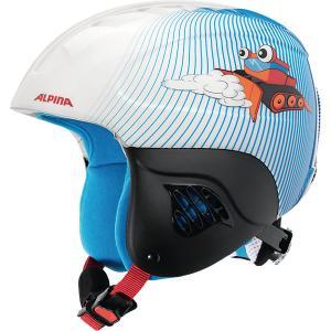 Зимний шлем  CARAT snowcat Alpina. Цвет: голубой/белый